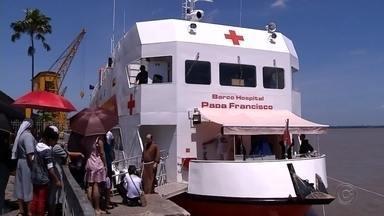 Repórteres da TV TEM embarcam em expedição de barco hospital na região amazônica - Os repórteres da TV TEM vão embarcar em expedição de barco hospital que atenderá comunidades na região amazônica.