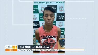 """Polícia prende """"Rainha do Boa Noite, Cinderela"""" - Segundo as investigações, ela fez pelo menos oito vítimas. Segundo as investigações, em cada golpe que aplicava, roubava entre R$3 mil e R$4 mil."""