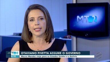 Otaviano Pivetta assume o governo do Estado durante viagem de Mauro Mendes - undefined