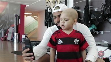 Conheça a história de Paulinho um torcedor que tem como herói Gabigol - Conheça a história de Paulinho um torcedor que tem como herói Gabigol