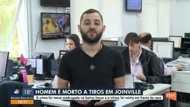 Homem é morto em frente de casa na zona sul de Joinville - Homem é morto em frente de casa na zona sul de Joinville