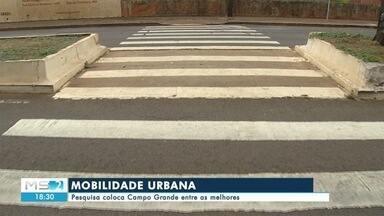 Pesquisa coloca Campo Grande entre as melhores - Uma pesquisa que mediu a eficiência das capitais brasileiras. Campo Grande ficou entre as melhores, e quem usa as ruas e calçadas ainda gostaria de mais investimentos.