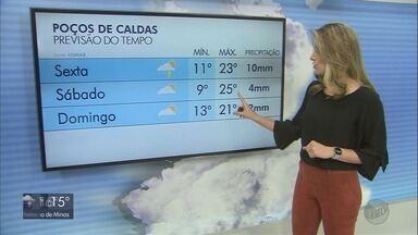 Confira a previsão do tempo para esta quinta-feira (26) no Sul de Minas - Confira a previsão do tempo para esta quinta-feira (26) no Sul de Minas