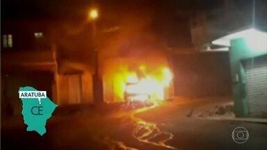 Estado do Ceará chega ao sétimo dia de ataques de bandidos contra ônibus e viaturas - Secretaria de Segurança Pública do estado diz que segue realizando operações para conter os ataques.