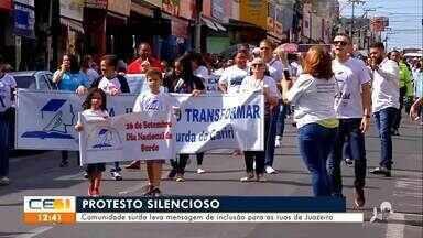 Comunidade surda leva mensagem de inclusão para as ruas de Juazeiro do Norte - Saiba mais no g1.com.br/ce