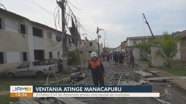 Temporal atinge Manacapuru, no AM - Moradores ainda contabilizam estragos.