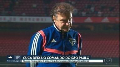 Cuca não é mais técnico do São Paulo - Treinador deixa o cargo após 26 jogos