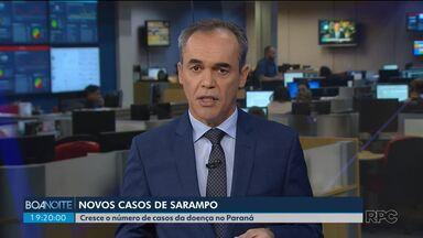 Sobe para 39 o número de casos de sarampo no Paraná - Vinte e seis dos casos foram confirmados na última semana.