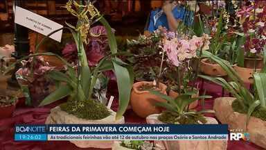 Começam as feiras de primavera em Curitiba - As feiras vão até o dia 12 de outubro nas Praças Osório e Santos Andrade.