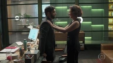 Nana se enrola ao mentir para Diogo - Diogo percebe que algo está acontecendo