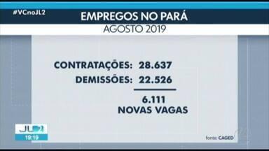 Pará tem resultado positivo na geração de empregos em agosto de 2019, diz Caged - Foram 28.637 contratações no estado contra 22.526 demissões.