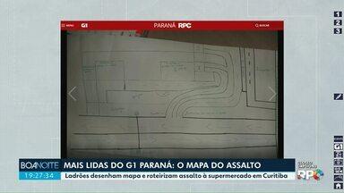 Assaltantes desenham mapa do alvo - Papel foi encontrado em meio aos produtos roubados