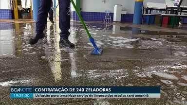 Prefeitura licita terceirização de zeladoras em escolas municipais de Cascavel - Licitação será aberta nesta sexta-feira (26), com o valor máximo de R$ 11 milhões. Segundo o município, contratação de empresa irá suprir falta de profissionais nas escolas.