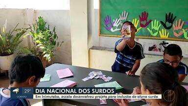 Nesta quinta-feira (26) é comemorado o Dia Nacional dos Surdos - Em Inimutaba, escola desenvolveu projeto de inclusão.
