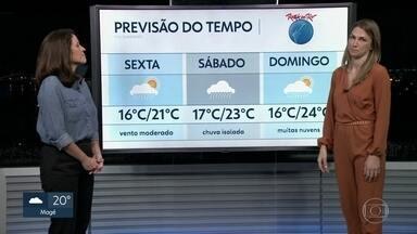 Saiba como vai ficar o tempo nos três primeiros dias de Rock in Rio - Durante o primeiro fim de semana do Rock in Rio, o tempo deve ficar bastante instável. Na sexta-feira (27), deve cair uma chuva fina. No sábado, pode ter chuva isolada e no domingo, muitas nuvens, mas a possibilidade de chover é remota.
