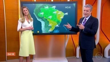 Meteorologia prevê tempo firme no Sul do país nesta sexta-feira - Chove em Goiás e em Mato Grosso.