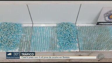 Casal é preso com quatro mil pinos de cocaína em Batatais, SP - Droga vinha de Altinópolis (SP) para ser revendida em Batatais, segundo a Polícia Militar.