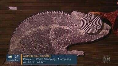 'Em Cena': Confira as atrações da região neste fim de semana - Museu das Ilusões em Campinas, show Eureka em Piracicaba e Orquestra Sinfônica em Indaiatuba.