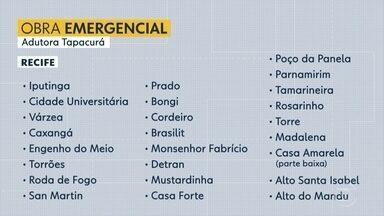 Obra emergencial da Compesa deixa 500 mil pessoas sem água no Grande Recife - Término do serviço está previsto para a tarde da segunda (30).