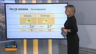Sol aparece no fim de semana e as temperaturas começam a subir - No domingo, a temperatura pode chegar a 27 graus em Curitiba.
