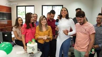 Visita especial no aniversário de 10 anos da TV Verdes Mares Cariri - Niara Meireles vai até Juazeiro do Norte para comemorar com a equipe que faz tudo acontecer na emissora caririense