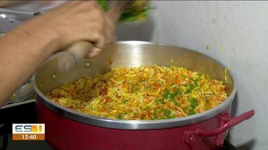 Raspando a panela: aprenda a receita de risoto - Maria Aparecida Rodrigues é professora de gastronomia e ensina a receita.