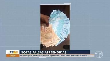 Guarda Portuária de Santarém apreende R$ 4 mil em cédulas falsas - Flagrante foi feito pela guarda portuária após denúncia.