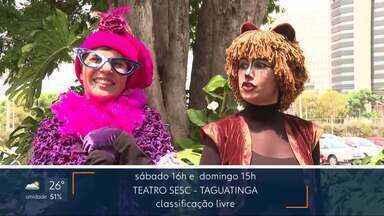 """Agenda de Diversão e Arte no DF1 de sábado - O Bloco Eduardo e Mônica está no Luau do Iate na noite de sábado. O Humorista Lindsay Paulino está em cartaz com a comédia """"Rose, a doméstica do Brasil"""" no teatro Royal Tulip. Veja as entrevistas no DF1. E ainda tem música, teatro e #Programãodf1. Divirta-se!"""