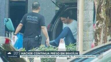 Justiça determina prisão preventiva para suspeito de invadir celulares de autoridades - Luiz Molição foi detido em Sertãozinho no último dia 19. Entre as vítimas estão o Ministro da Justiça, Sérgio Moro.