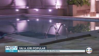 Vai a júri popular o homem que atirou com espingarda de chumbinho - O homem feriu quatro pessoas, em uma festa, em Belo Horizonte.
