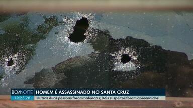 Homem é morto e outros dois são baleados em Cascavel - Morte foi registrada na mesma casa onde em março um suspeito de assaltar um posto de combustíveis foi morto pela polícia.