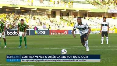 Coritiba vence o América-MG por 2 a 1 - Foi o primeiro jogo do técnico Jorginho no comando do time.