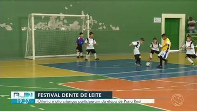 Festival Dente de Leite de Futsal: 88 crianças participam da etapa de Porto Real - Jogo aconteceu no Ginásio Gustavão.