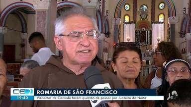 Na viagem a Canindé, devotos de São Francisco passam por Juazeiro do Norte - Saiba mais no g1.com.br/ce