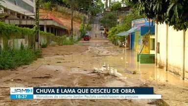 Aterro desliza e atinge casas e creche em Manaus - Chuva deixou dois mortos