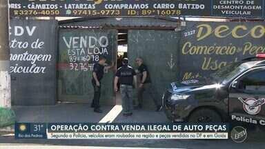 Polícia realiza operação contra venda ilegal de peças de veículos roubados na região - Além da região de Campinas, mandados foram cumpridos em Goiás e no Distrito Federal.