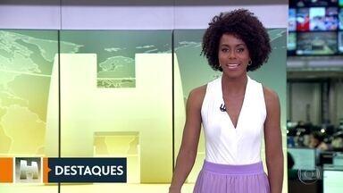Maju Coutinho destaca as notícias do Jornal Hoje no SPTV 1 - Maju Coutinho conversa com César Tralli, apresentador do SPTV 1 e destaca os assuntos da edição do telejornal, que começa às 13h25.