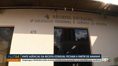 Vinte agências da Receita Estadual fecham a partir desta terça-feira (01) - Arapongas e Rolândia estão na lista: contribuintes passarão a ser atendidos por Londrina.