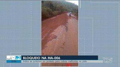 MA-006 em Arame está interditada há uma semana - Bloqueio do trecho da via faz a ligação ao município maranhense.