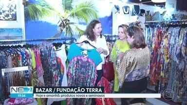 Bazar ajuda projetos sociais da Fundação Terra no Recife - Ação ocorre em Boa Viagem.