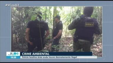 Operação de combate a crimes ambientais apreende motosserras em fazenda na BR-230, no PA - Uma roçadeira e galões de combustíveis também foram encontrados na fazenda.