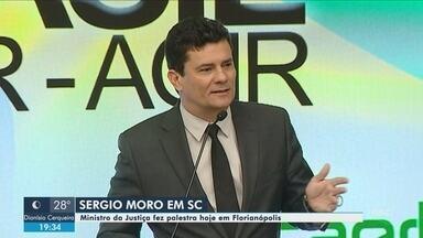 Ministro Sérgio Moro cumpre agenda em Florianópolis - Ministro Sérgio Moro cumpre agenda em Florianópolis