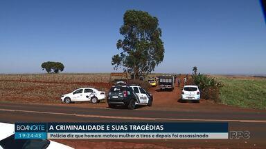 Polícia investiga dois assassinatos na região de Londrina que podem ter ligação - Mulher que devia para traficantes foi morta a tiros. Horas depois, o principal suspeito do assassinato também foi morto, com um tiro na cabeça em outra cidade.