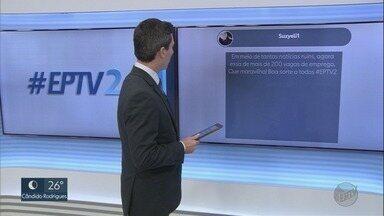 Veja os comentários dos telespectadores no EPTV2 nesta segunda-feira (30) - Você também pode participar com a #EPTV2 pelo Twitter.
