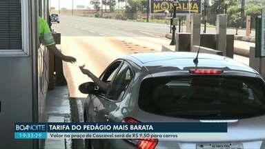 Seis praças de pedágio do Paraná têm tarifa reduzida a partir desta terça-feira - Acordo de leniência da Ecorodovias prevê redução de 30% das tarifas.