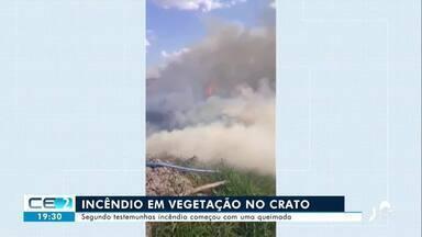 Incêndio em vegetação no Crato - Confira mais notícias em g1.globo.com/ce