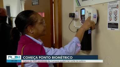 Cerca de 1.300 servidores de Campos podem ter corte no salário - Segundo a Prefeitura, servidores que não cadastraram a biometria terão o pagamento suspenso até se regularizarem.