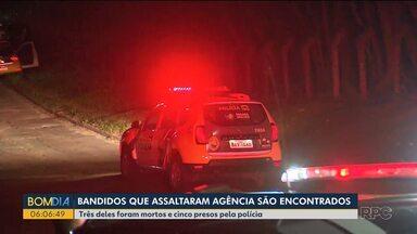 Polícia faz buscas e encontra parte da quadrilha que assaltou agência bancária - Ação dos bandidos foi na manhã de segunda-feira, no Tatuquara.