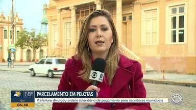 Prefeitura de Pelotas anuncia que vai atrasar pagamento dos servidores municipais - Calendário de pagamento foi divulgado na segunda-feira (30).