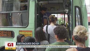 G1 no BDMG: Empresas de ônibus contrataram 501 cobradores dentro do prazo, diz BHTrans - Contratação foi feita após determinação do prefeito, feita em agosto, para garantir a presença destes trabalhadores em horário obrigatório por lei.